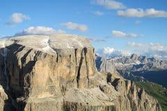 Le alpi Sekka della dolomia si eleva bella vista Fotografia Stock Libera da Diritti