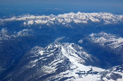 Le alpi si avvicinano al Matterhorn Immagine Stock Libera da Diritti