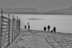 Le alpi sopra alta nebbia L'Austria, Europa Fotografia Stock Libera da Diritti