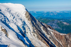 Le alpi sopra Chamonix-Mont-Blanc Fotografia Stock Libera da Diritti