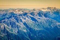 Le alpi sopra Chamonix-Mont-Blanc Immagine Stock Libera da Diritti