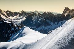 Le alpi sopra Chamonix-Mont-Blanc Fotografia Stock
