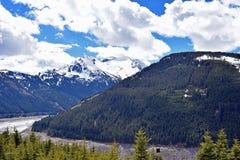 Le alpi su Gerlos passano la strada alpina B165, Austria Fotografia Stock Libera da Diritti