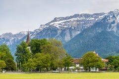 Le alpi svizzere a Interlaken, Svizzera Fotografie Stock