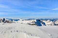 Le alpi svizzere, vista dal Mt Titlis Immagini Stock Libere da Diritti