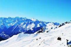 Le alpi svizzere, vista panoramica Immagine Stock