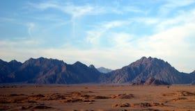 Le alte montagne dell'Egitto Fotografia Stock
