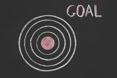 Le but ambitieux pensent la grande cible de but de portée photo libre de droits