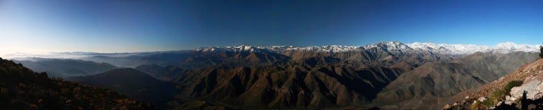 Le Ande dall'osservatorio interamericano di Cerro Tololo Immagini Stock Libere da Diritti