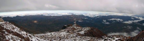Le Ande dall'osservatorio interamericano di Cerro Tololo Fotografie Stock Libere da Diritti