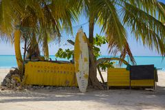Le Antille, i Caraibi, Antigua, St Mary, Jolly Harbour, spiaggia Fotografia Stock