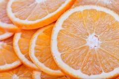Le arance senza semi incidono le fette Immagine Stock Libera da Diritti