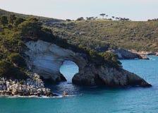 Le Architiello, the coast near Vieste, Puglia, Italy. Le Architiello, the coast near Vieste, Gargano, Puglia, Italy Stock Image