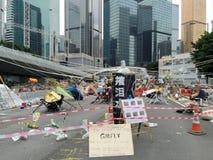 Le arti dentro occupano l'area - rivoluzione dell'ombrello in centrale, Hong Kong Fotografia Stock