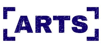 Le ARTI strutturate graffiate timbrano la guarnizione dentro gli angoli royalty illustrazione gratis