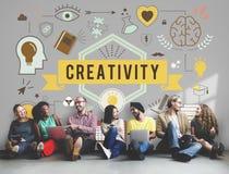 Le aspirazioni di abilità di creatività creano il concetto dello sviluppo fotografia stock libera da diritti