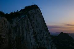 Le attrazioni turistiche famose in cinese della provincia di Shaanxi, montagna di Huashan Fotografia Stock