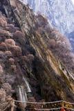 Le attrazioni turistiche famose nella provincia Cina, montagna di Shaanxi di Huashan Fotografie Stock Libere da Diritti