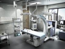 le attrezzature e gli apparecchi medici nella sala operatoria moderna 3d rendono Fotografie Stock Libere da Diritti