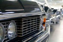 Le automobili nere della vecchia Unione Sovietica Immagini Stock Libere da Diritti