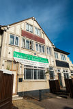 Le bâtiment était centre du Faizan-e-Islam de bar de chêne de Waltham maintenant Photographie stock libre de droits