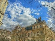 Le bâtiment antique de cci de la vieille ville de Lyon, vieille ville de Lyon, France Images libres de droits