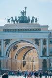 Le bâtiment d'état-major, musée d'ermitage d'état, St Petersburg, Russie photographie stock
