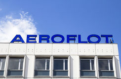 Le bâtiment d'Aeroflot Photos stock
