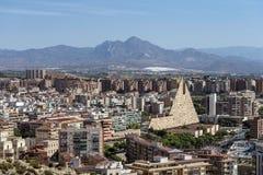 Le bâtiment d'Alicante photo libre de droits