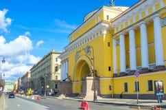 Le bâtiment d'Amirauté à St Petersburg Image stock