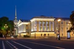 Le bâtiment d'Amirauté - les anciens sièges sociaux du conseil d'Amirauté et de la marine russe impériale à St Petersburg, Photos libres de droits