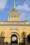 Le bâtiment d'Amirauté, St Petersburg, Russie Photos stock