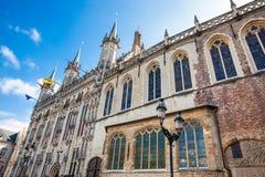Le bâtiment d'hôtel de ville de Bruges photo stock