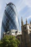 Le bâtiment de cornichon, Londres Photographie stock libre de droits