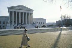 Le bâtiment de court suprême des Etats-Unis, Washington, D C Images libres de droits