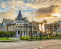 Le bâtiment de Knowsley est un bâtiment d'héritage au Trinidad Photo stock