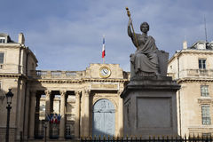 Le bâtiment de l'Assemblée nationale à Paris photo libre de droits