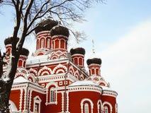 Le bâtiment de la cathédrale de résurrection en Borisov images libres de droits
