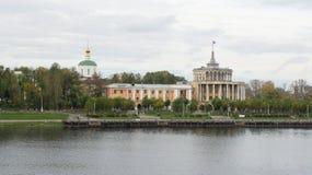 Le bâtiment de la station de rivière dans Tver Image libre de droits