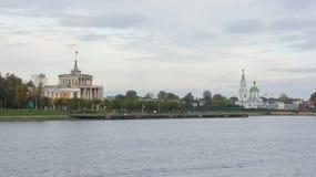 Le bâtiment de la station de rivière et du couvent de Catherine Photos libres de droits