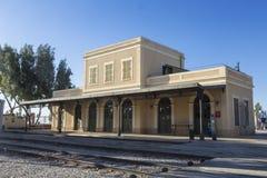 Le bâtiment de la vieille station de train à Tel Aviv Photographie stock libre de droits