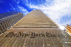 Le bâtiment de quotidien de New York Times dans Midtown Manhattan Photographie stock