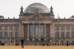 Le bâtiment de Reichstag à Berlin Images libres de droits