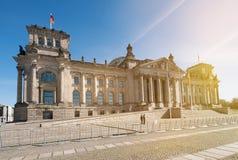 Le bâtiment de Reichstag - bâtiment allemand du parlement à Berlin Photos stock