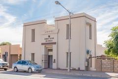 le bâtiment de style égyptien de transformateur a été construit en 1914 dans Kakamas Photographie stock