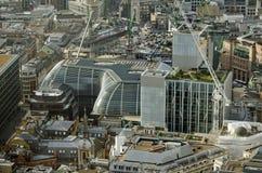 Le bâtiment de Walbrook, vue aérienne Images libres de droits