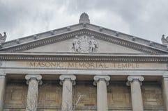 Le bâtiment du centre commémoratif maçonnique Photo libre de droits