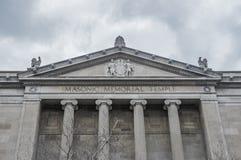 Le bâtiment du centre commémoratif maçonnique Images stock
