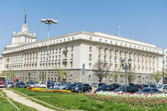 Le bâtiment du Conseil des ministres à Sofia central Image libre de droits