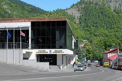 Le bâtiment du conseil municipal de Borjomi, la Géorgie Photo libre de droits